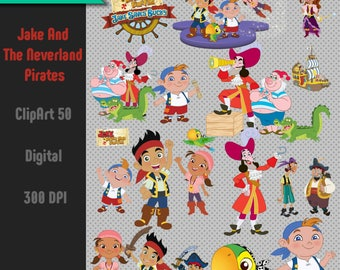 Jake And The Neverland Pirates 50 Clipart-Digital-ClipArt-PNG-image-PNG Images-Digital Clip Art background-Scrapbooking