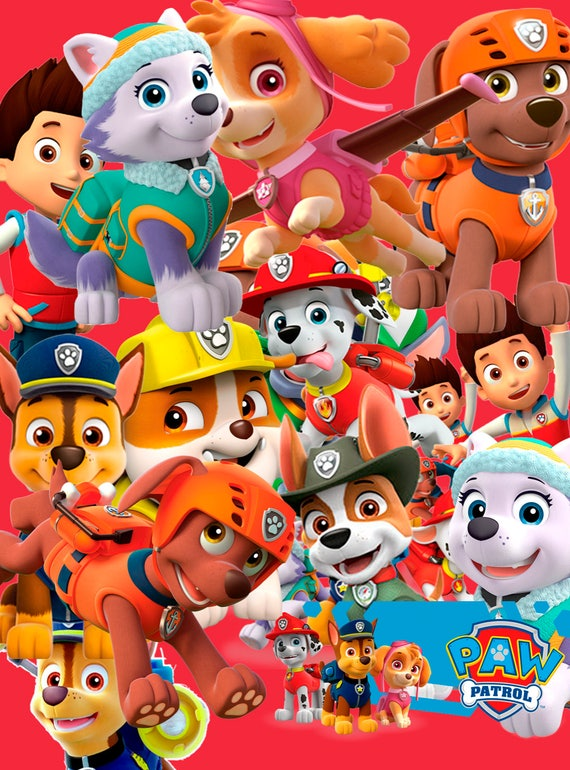 Paw Patrol 60 Clipart Digital ClipArt PNG Image Images Clip Art Background Scrapbooking Instant From ShopTopXXXL On Etsy