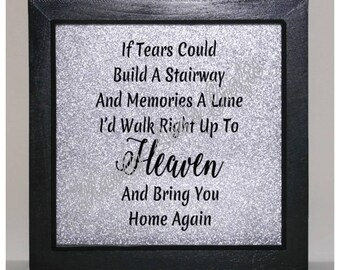 If tears could build a stairway... Vinyl Frame