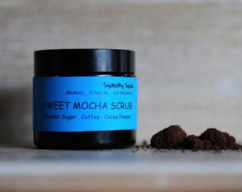 SWEET MOCHA SCRUB - Coffee Scrub, Sugar Scrub, Exfoliator, Shea Butter, Almond Oil, Body Scrub