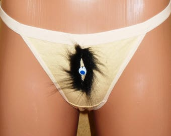 Hairy lace panties