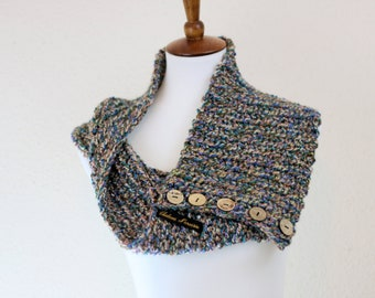 Abalone Button Cowl