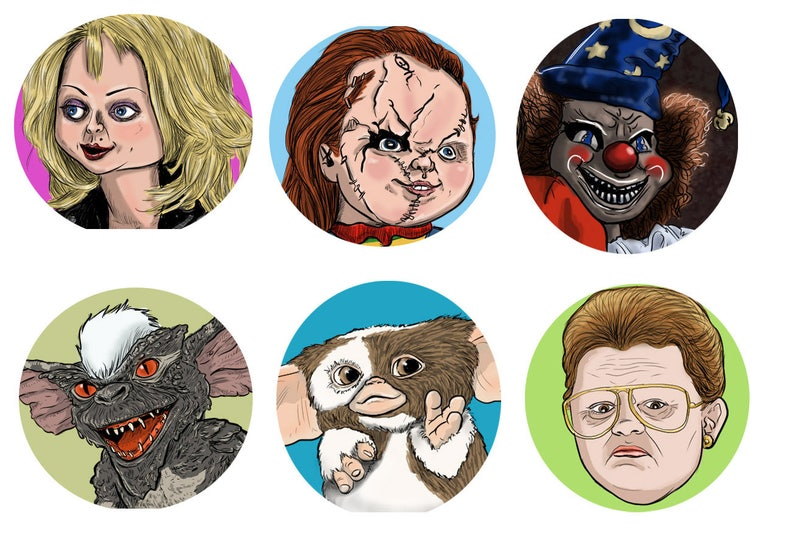 I Fear the 80s Horror Film Buttons