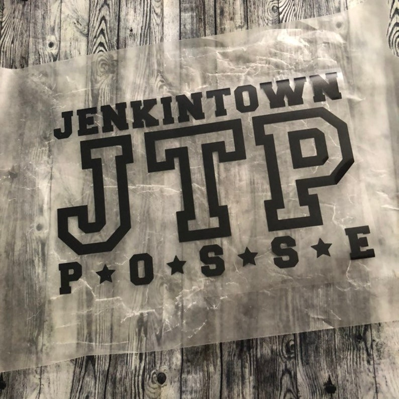 Diy Do It Yourself Heat Transfer Only-Place on Own Garment IRON-ON The Original JTP Jenkintown Posse AllStar Design Inspired by Goldbergs