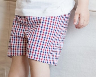 Checkered shorts for toddler and toddler
