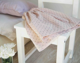 Girl's skirt plumetis powder/Ecru