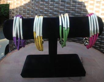Multi Strand suede leather Bracelet