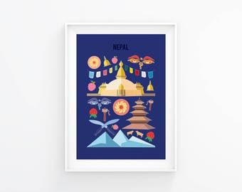 Nepal print