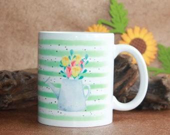 Water Colour Flower Mug