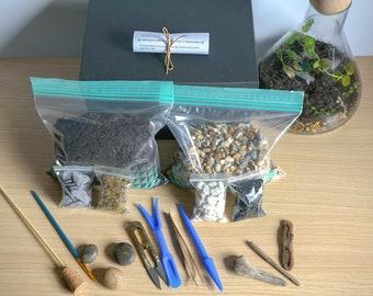 DIY Terrarium kit with Guide & Optional Tools/Gift Box Small Medium Large