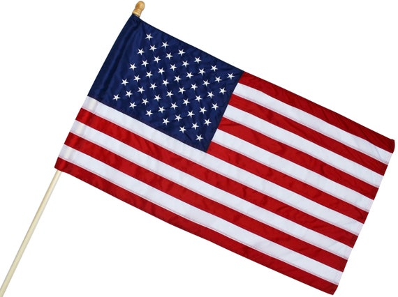 US 4X6 FT AMERICAN FLAG POLE HEM BANNER SLEEVE POCKET