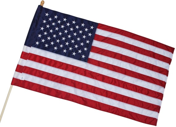 100/% Made in USA US Flag 5x8 ft Premium Large American Flag Embroidered Star