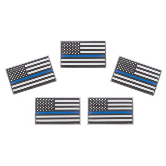 Thin Blue Line Flag Lapel Pins Police Pin Supporting Law | Etsy