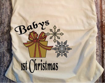 Baby's First Christmas, Maternity Shirt, Pregnancy Reveal Maternity Shirt, Pregnancy Shirt, Baby Shower Gift,Mom Gift, Mom to Be