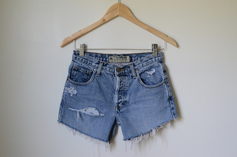 ee16a183a6 Distressed Stonewash Shorts / High Waisted Vintage Shorts / | Etsy