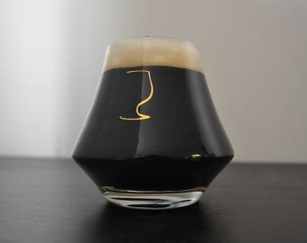 FREE Shipping |  Stout Glass | Whiskey Glass | Imperial Stout Glass |  Stout Glassware | Beer Gifts | Beer Gift | Father's Day Gift