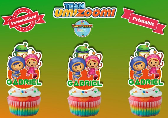Terrific Personalized Team Umizoomi Cupcake Toppers Digital File Etsy Personalised Birthday Cards Epsylily Jamesorg