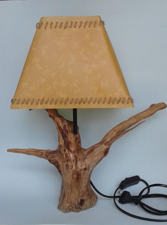Holz Aus Wacholder Nachahmung Pergament Bildschirm Lampe Etsy