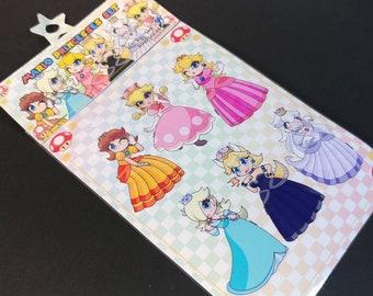 Mario Princesses Sticker Sheet