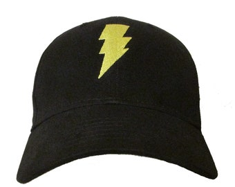 9eb7447145f Shazam Movie Comic Book Film Logo  1 in YELLOW Adult Baseball Hat OSFA    FlexFit DC Zachary Levi