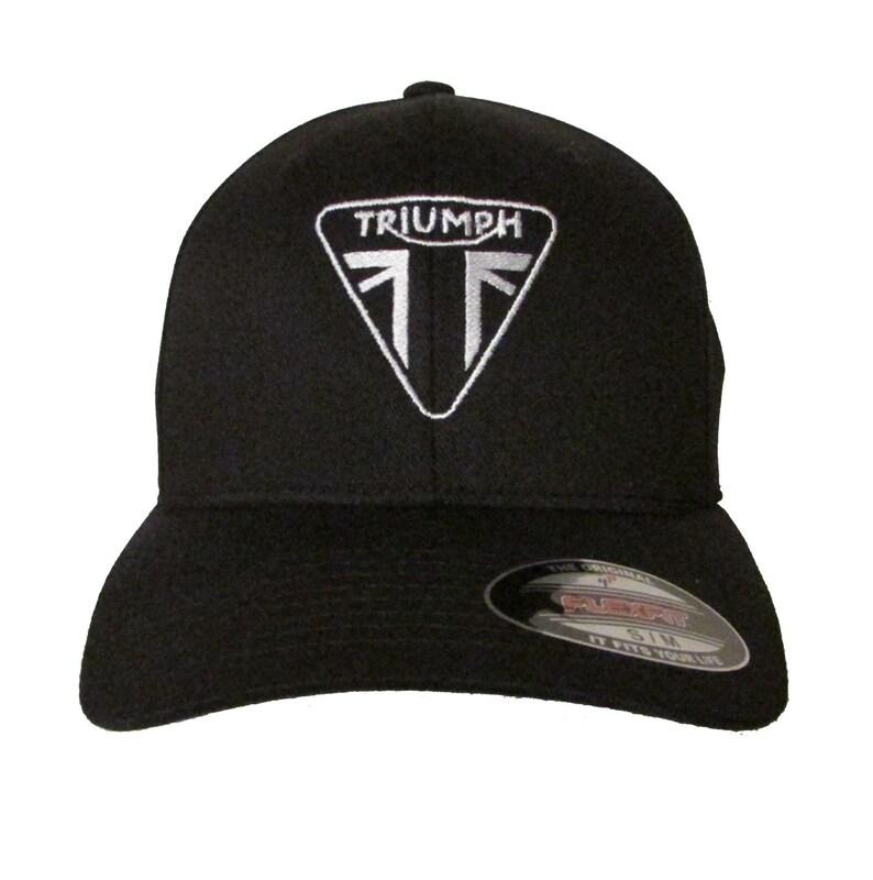 fea312637 Triumph Motorcycle Logo Ver 1 Adult Baseball Hat OSFA & FlexFit