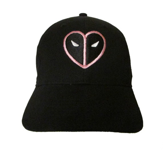 6d185db7eaf Deadpool Pink Heart for Fck Breast Cancer Logo Adult Baseball