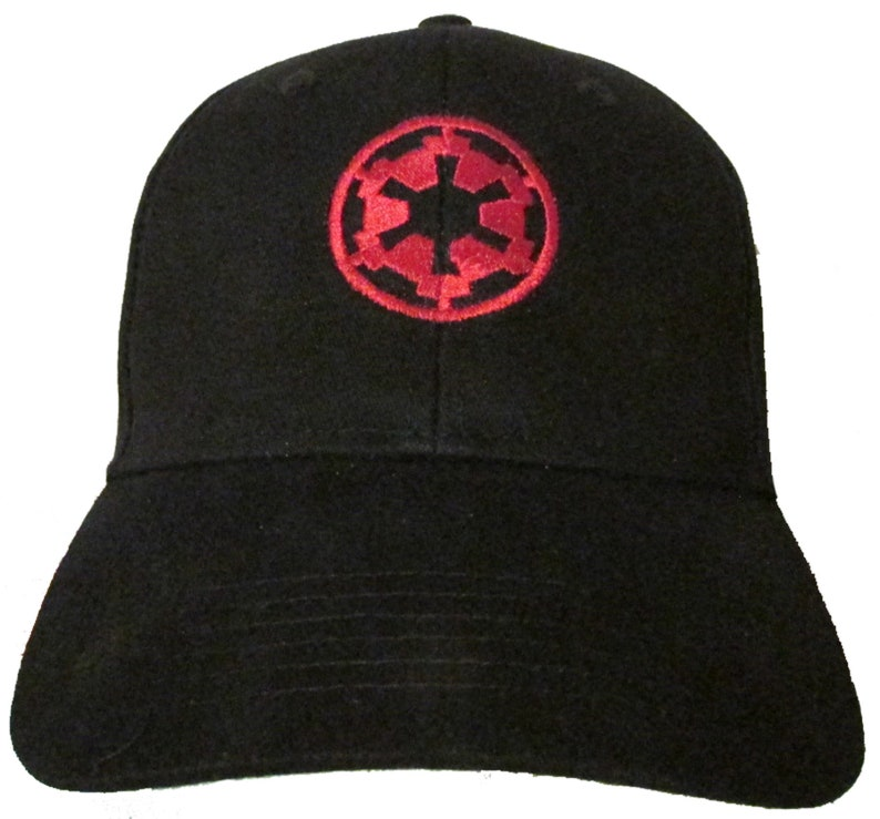 aa294e1e3c6 Star Wars The Imperial Empire Logo in RED Adult Baseball