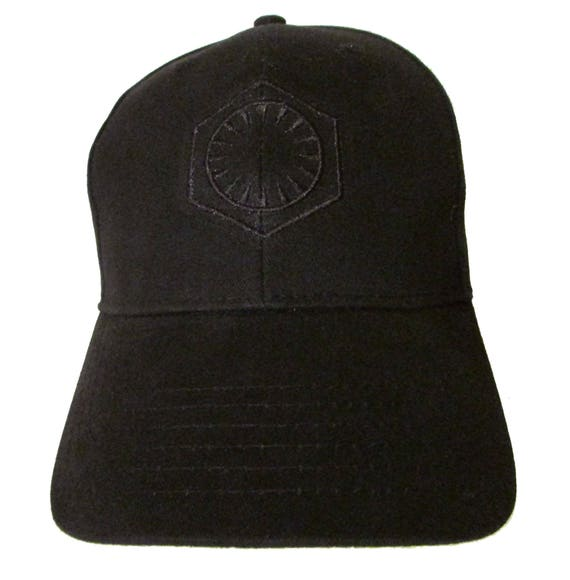 56a2c3f8a90 Star Wars The First Order Logo in BLACK Adult Baseball Hat