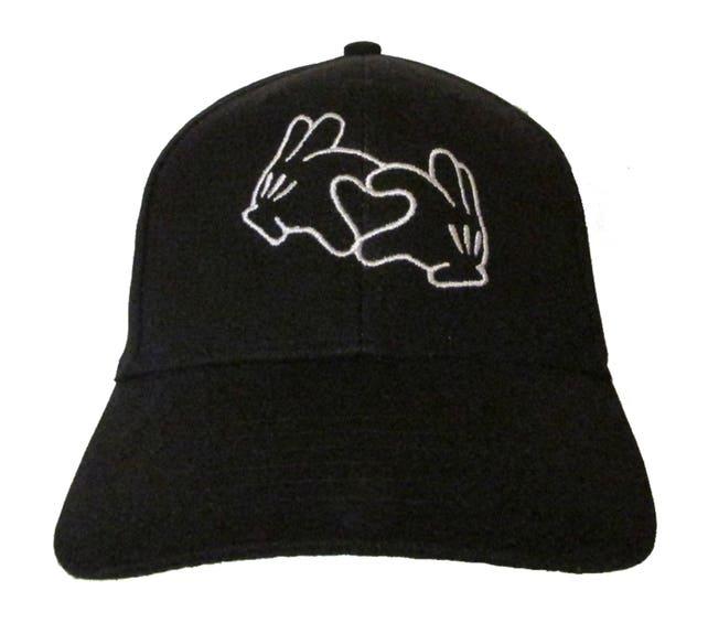 Mickey Mouse Hände als Herz Liebe/Frieden bestickt | Etsy