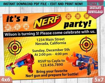 INSTANT DOWNLOAD_Dart Birthday Invitation, Mine Party, Pixel Party Invites, Mine theme Party Invitation, Digital File, Birthday, PDF