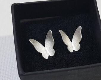 925 Sterling Silver Butterfly Stud Earrings, Butterfly Jewelry, gifts for her