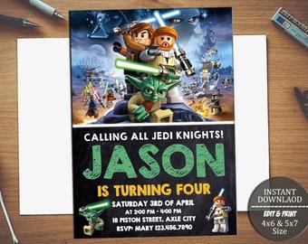 Lego star wars invitation etsy lego star warsstar wars invitationstar wars birthdaystar wars partystar wars birthday invitationsstar wars invite invitation pdf filmwisefo