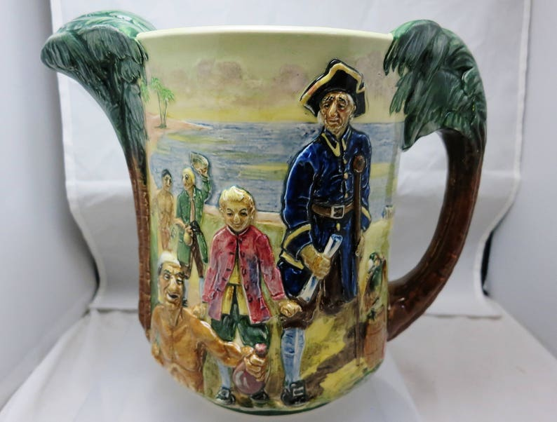 Antique Salvation Army Pitcher Jug  William Booth Blood and  Fire Earthenware 1882-1884