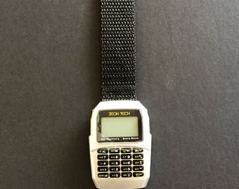 Zeon Data Calculator Watch Vintage Retro Back To The Future Classic Rare