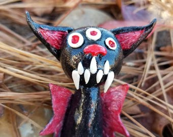 Polymer Clay Bat, Polymer Clay Halloween