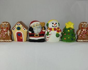 Set of 6, Christmas Scene