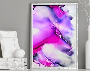 Modern Art, Flower Painting, Fluid Art, home art, Wall Art, Giclee Print, abstract painting