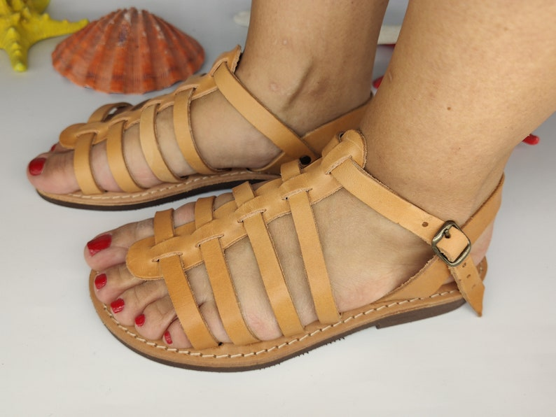 Made from 100/% Genuine Leather Light Soft Comfortable Handmade Sandal,Gift for Her SPARTA Roman Greek Handmade Leather Sandals