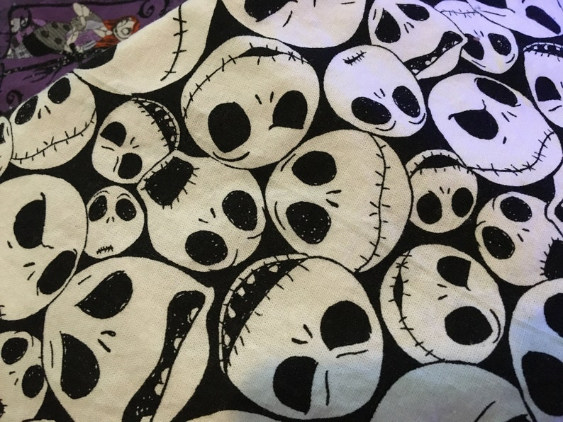 Jack Skelltington Stocking Nightmare Before Christmas 2 fabrics to choose from