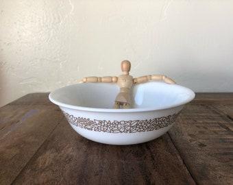 """VINTAGE Corelle Woodland Brown Cereal / Soup Bowl - 7"""" / Woodland Pyrex / Vintage Kitchen / Cabin Dishes"""