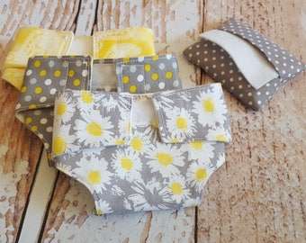 Baby Doll Diaper & Wipes Set