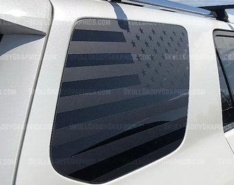 2 Pack American Flag Decal SetToyota 4Runner Window5th Generation PRECUT