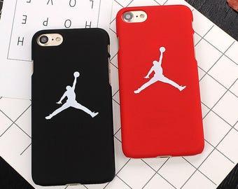 Flying Man Michael Jordan Basketball 23 Air Jordan Bulls Chicago Red Black White High Quality PC Case Apple iphone X 8 7 6 plus 6 6S Fundas