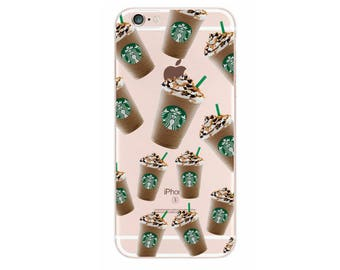 Cute Starbucks Coffee Cup Vintage Plant Chic Soft Case Coque For iPhone 7Plus 6Plus 7 6 6S 5 5S SE