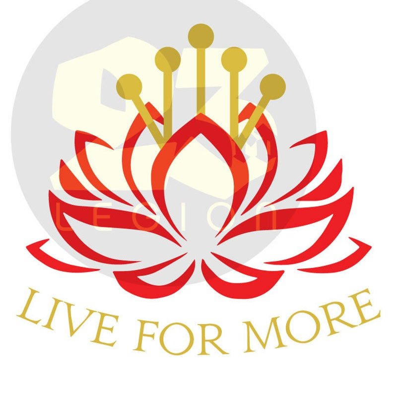 Live for More Haemanthus Red Rising inspired vinyl decal image 0