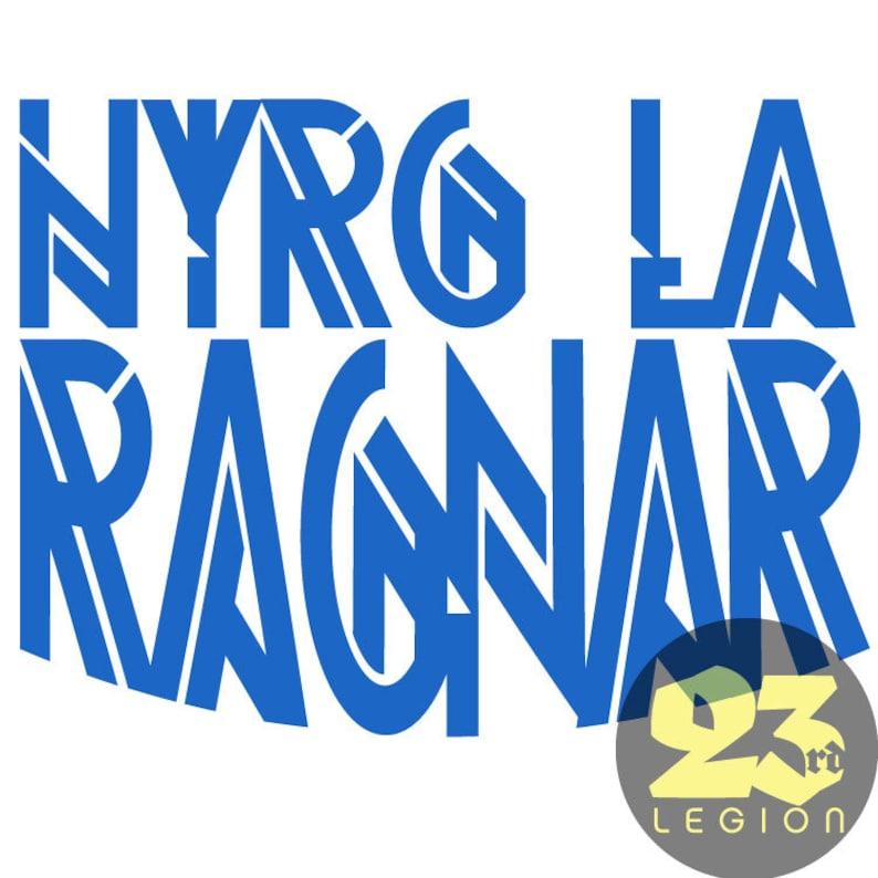 Hyrg la Ragnar Red Rising inspired vinyl decal image 0