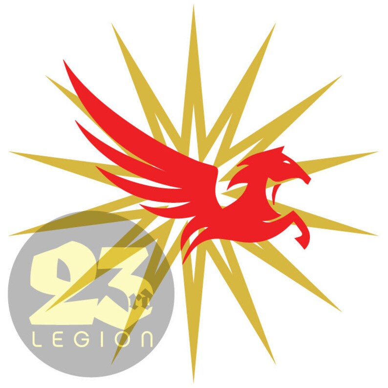 Pegasus Legion Iron Gold-inspired vinyl decal image 0