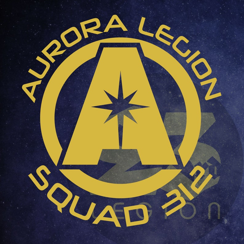 Aurora Legion Crest  Squad 312 Aurora Cycle inspired vinyl image 0