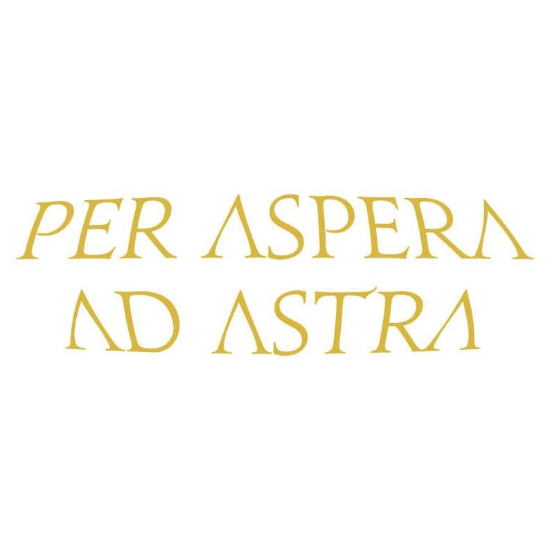 Per Aspera Ad Astra  Red Rising inspired vinyl decals image 0