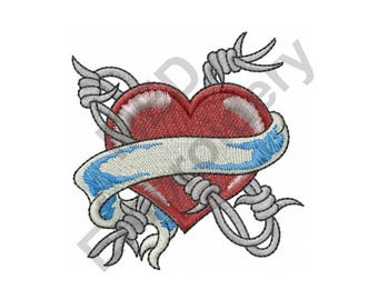Barbed wire heart   Etsy